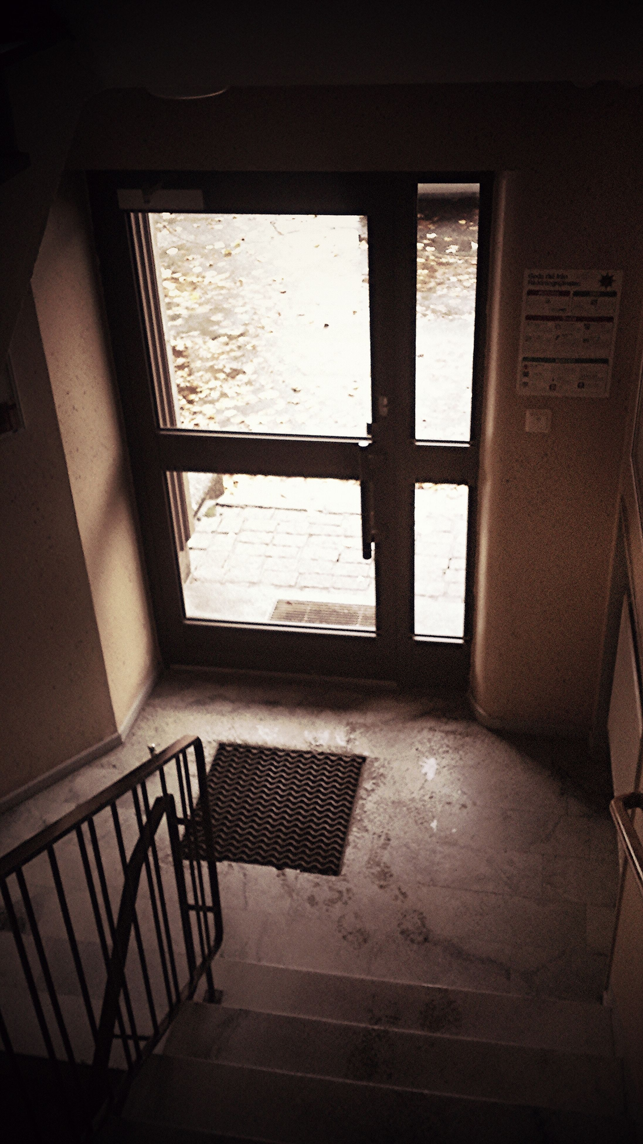 indoors, window, empty, absence, glass - material, chair, architecture, built structure, home interior, transparent, table, flooring, sunlight, shadow, house, day, no people, door, tiled floor, reflection