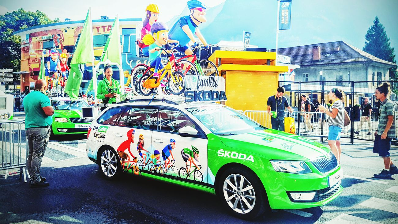 Tour De France Caravan Car On The Road Cycling Bicycle Having Fun Family On The Way People Together Bike Bike Tour Bike Love The Color Of Sport People And Places