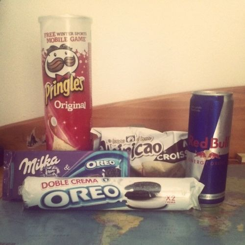 Survival kit Studytime Schoolbreak Stuckathome Afternoondelight redbull oreo singleasapringle