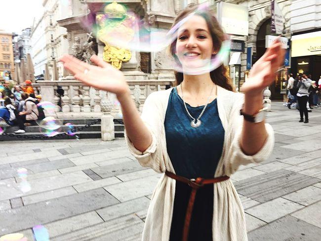 Soap Bubbles Bubbles Having Fun Happy Girl Snapshots Of Life Capture The Moment