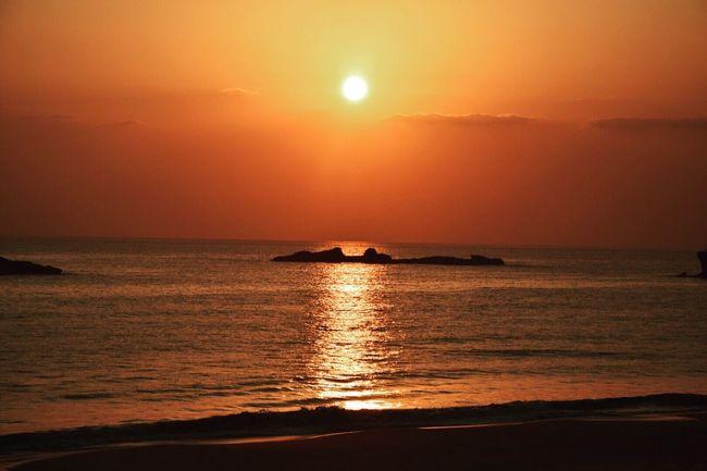 Sunrise_Collection Sunrise Colors Sunrisephotography 朝陽 いつもの場所 いつもの海 早く私に休みよ来い。 Nature Photography Beach View Beachphotography Beachwalk Seascape