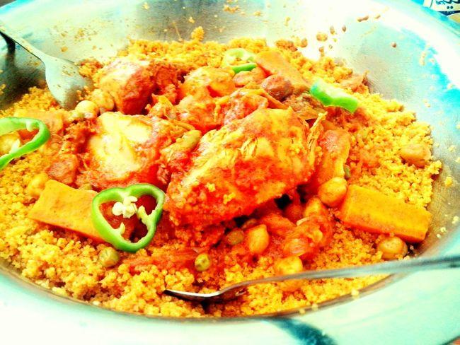 Me & my lovely enjoying a Home made Couscous, Hayya Besmellah!