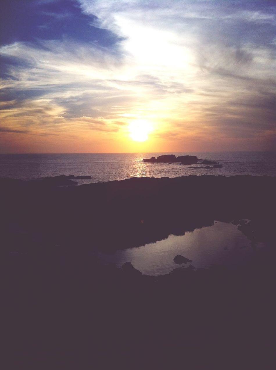 Sunset Enjoying The Sun Sun Beach