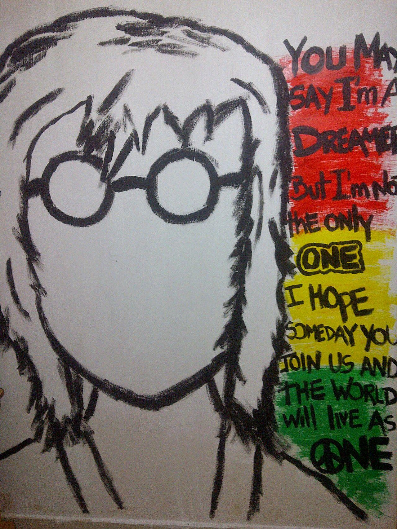 Text No People Close-up Day Wallpainting Designattack Beatles Outdoors TheBeatles😍😍😍 Painted MadebyMe ☝✌ MyWallArt Ecuador🇪🇨