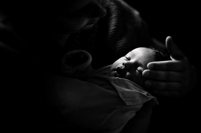 Baby Childrens Portrait Emotions My Baby My Baby Girl <3 Popular Photos Monochrome Blackandwithe Bw_collection