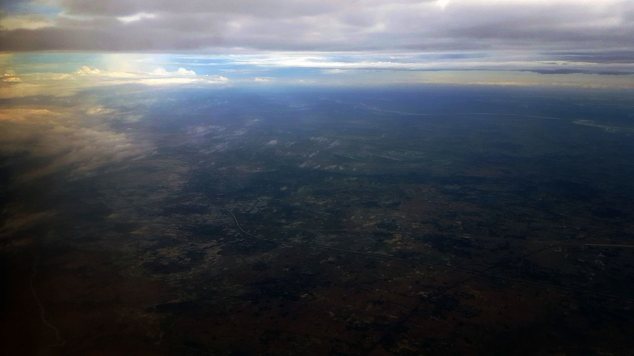 Aerial View Cloud - Sky Scenics Nature No People Sky Outdoors Landscape Beauty In Nature Day Planet Earth Satellite View Colourful Cloudscape Full Frame Clouds And Sky My Photography Land. Greenery Colourful Nature Sunset