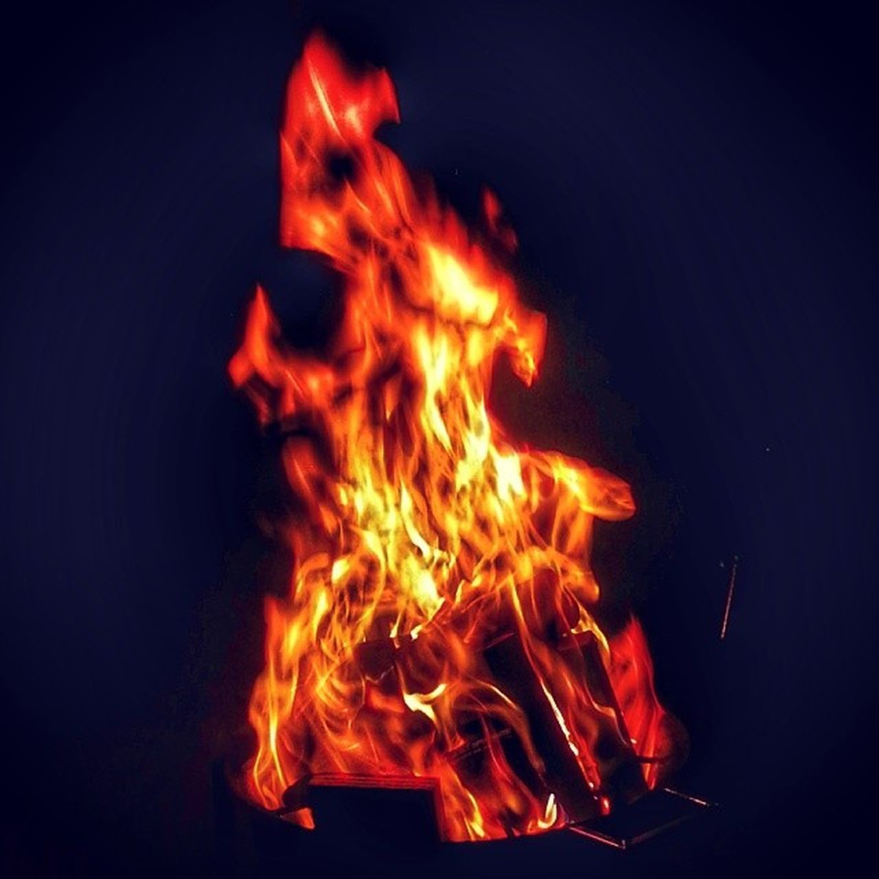 flame, burning, heat - temperature, no people, red, motion, close-up, outdoors, night, inferno, nature