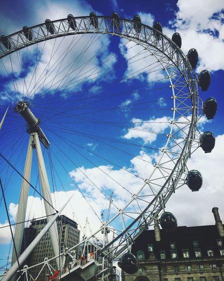 Amusement Park Arts Culture And Entertainment Ferris Wheel Amusement Park Ride Big Wheel Low Angle View London Eye LondonEye London London Eye, London London EyeEm Sky Cloud - Sky No People Day Outdoors Be. Ready.