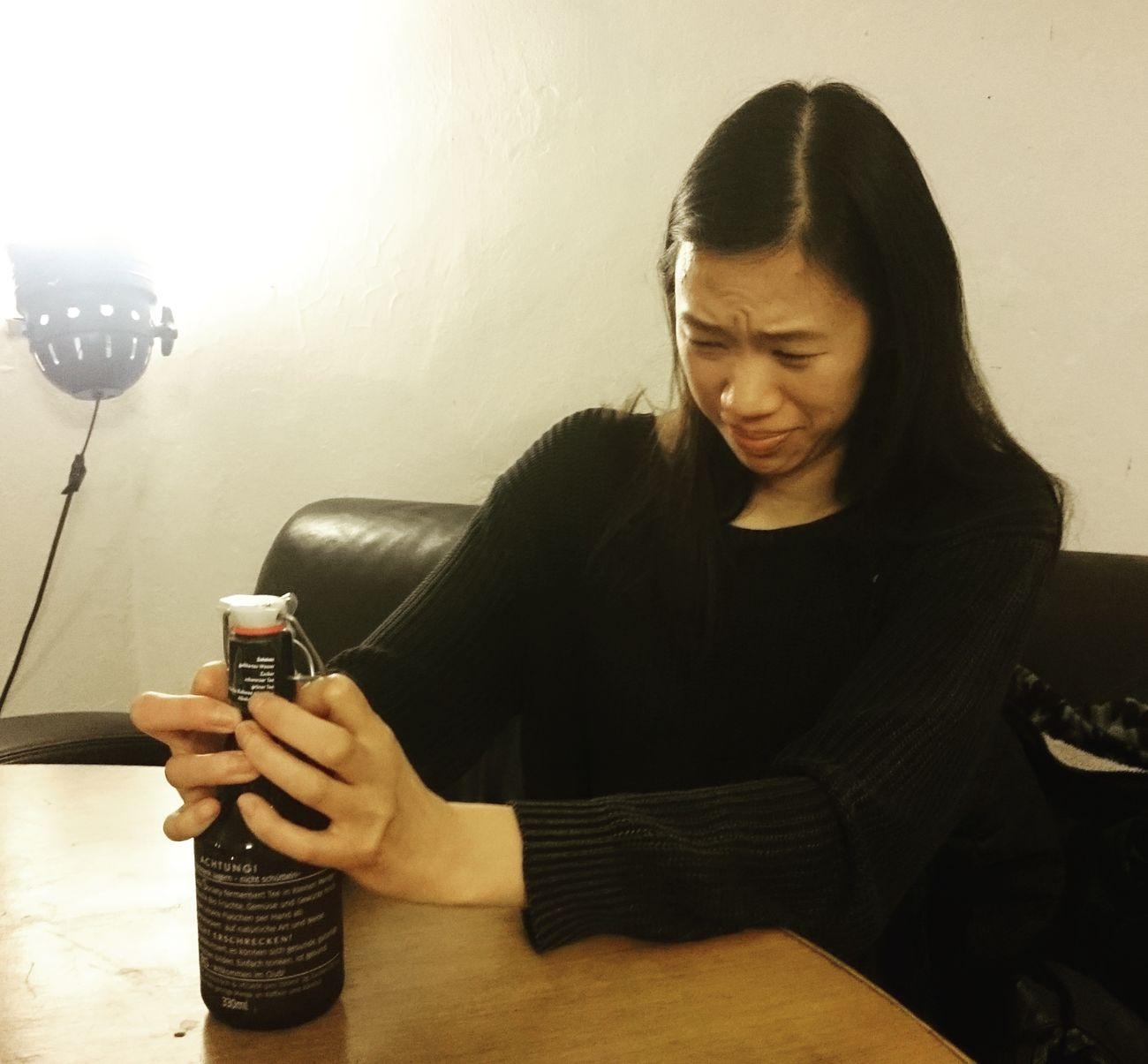 Pop Kombucha Drink Single Woman
