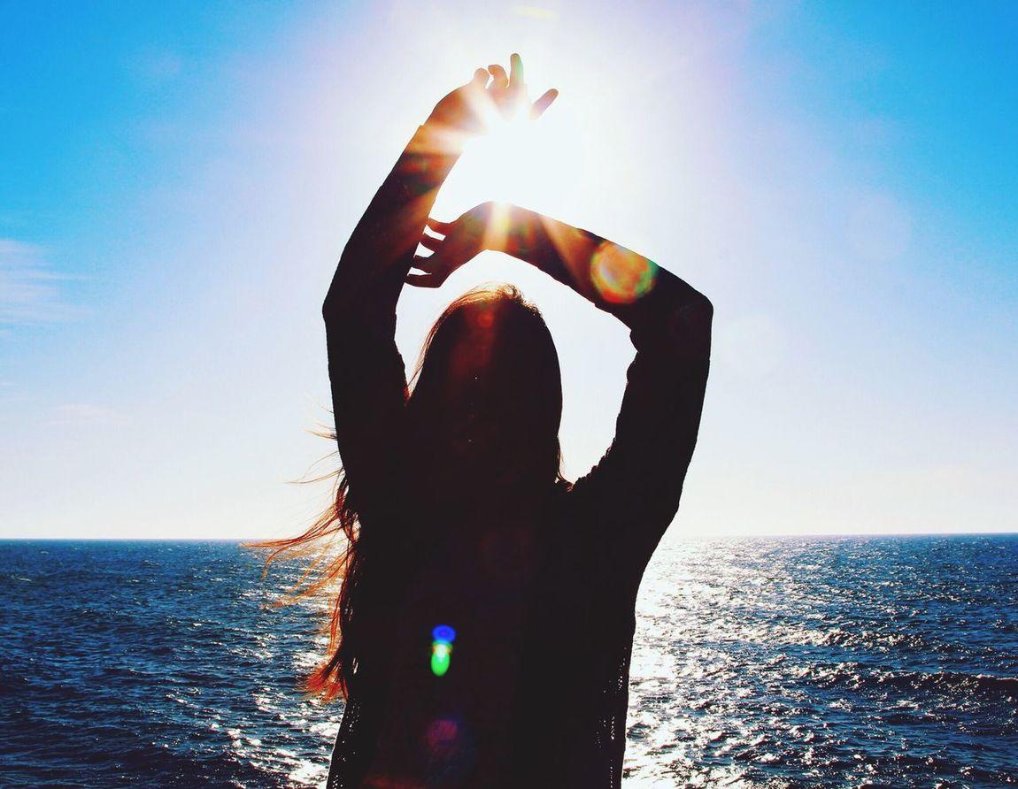 Sun Silhouette That's Me Beach march 2014