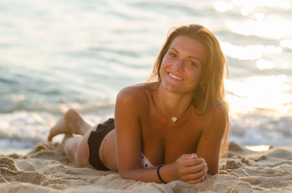 Beach Beautiful Beautiful Girl Bikini Blonde Focus On Foreground Girl Person Portrait Sand Sand & Sea Sea Shine Shore Sitting Summer Sun Sunset Sunset #sun #clouds #skylovers #sky #nature #beautifulinnature #naturalbeauty #photography #landscape Tranquility Vacations Water Weekend Activities Young Adult Young Women