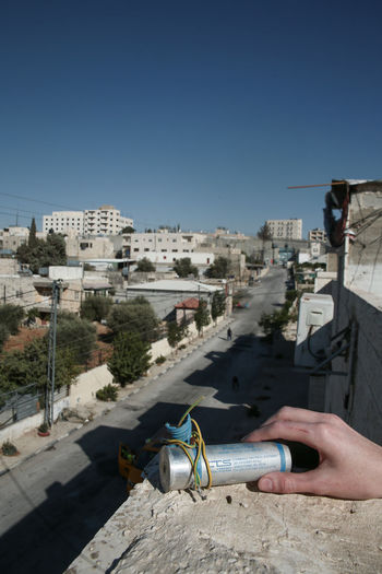 Architecture Cannisters Cityscape CS Gas Empty Israel Middle East Palestine Tear Gas