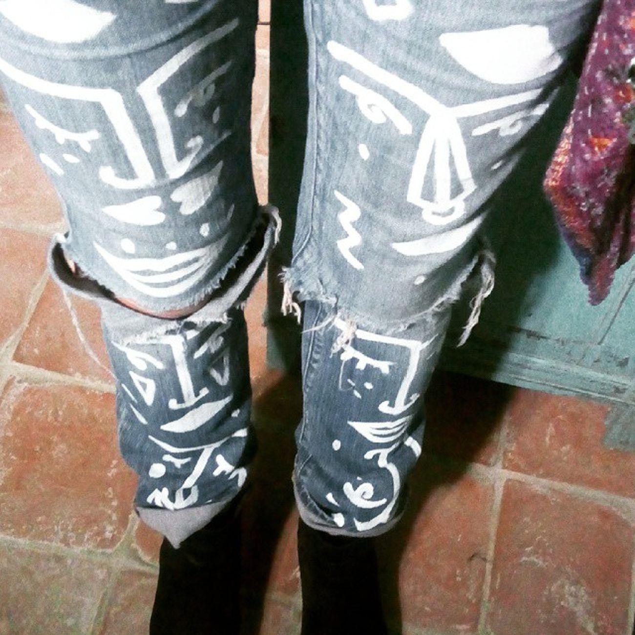 Handpainted jeans Jeans HandPainted Levis Pimp dipintiamano illustration oneofone pezziunici personalizzazione