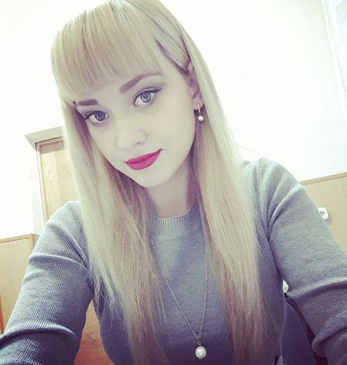 Nastena Korshunova Nasty :)  Winter Make-up Blond Hair Beautiful People Looking At Camera Beautiful Woman Young Women
