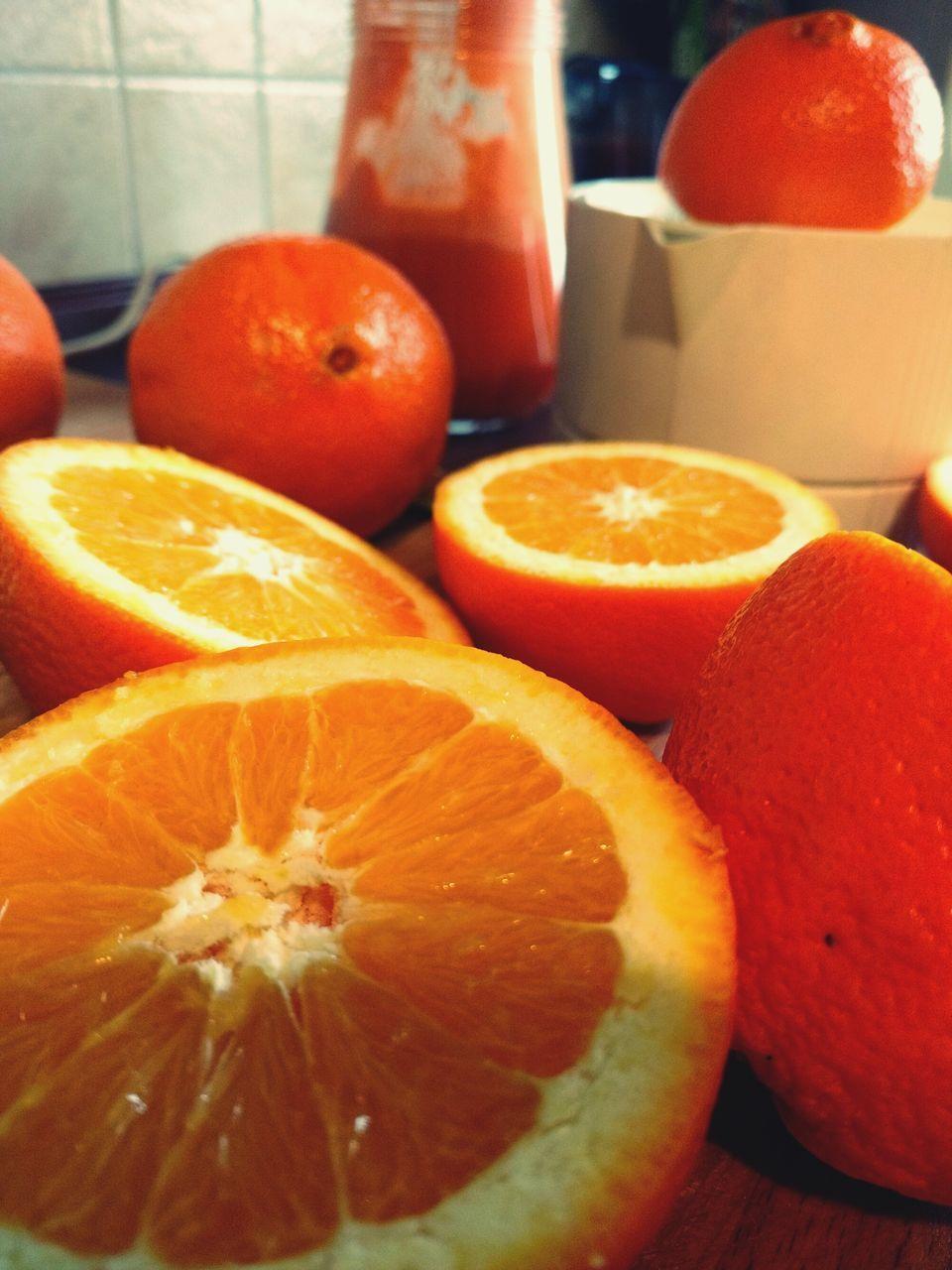 orange - fruit, fruit, citrus fruit, freshness, healthy eating, food and drink, orange color, slice, food, grapefruit, cross section, blood orange, indoors, close-up, no people, vitamin c, table, day
