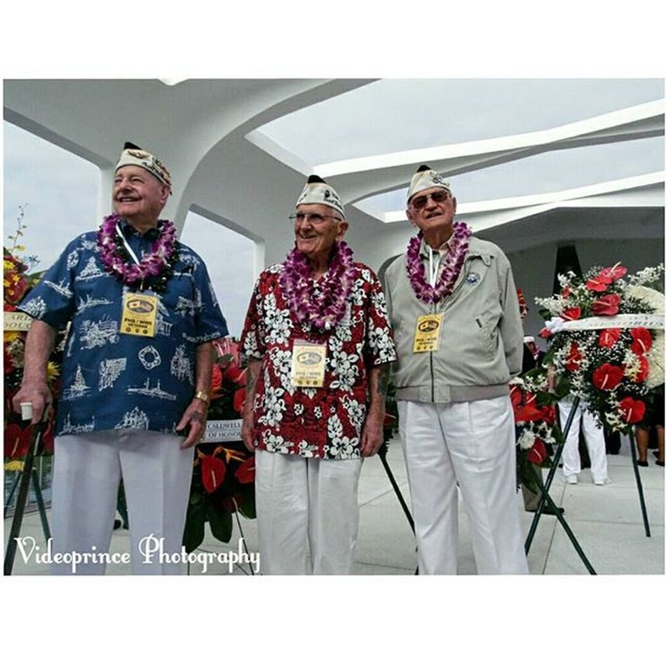 This photo was taken on the 74th Pearl Harbor Remembrance. As I know most of you are like who are these old geezers but they're apart of history even as today as the last 3 USS ARIZONA Survivors. Photography By: @Videoprince Hawaii Oahu Luckywelivehi HiLife 808  Alohastate History Navalhistory Usnavy 74th Pearlharborremembrance Pearlharbor USHistory Past Present Lastsurvivors Photography Photographer Videoprince Ussarizona