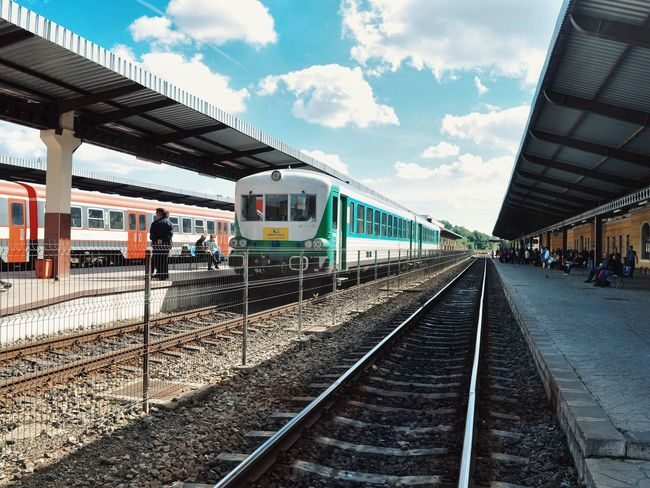 Stationary... Train Train Station Train Tracks Trains Transportation Outdoor Photography Streetphotography Made In Romania Hello World Traveling Travel Travel Photography Enjoying Life Vscocam Clouds And Sky Taking Photos Eye4photography  Sunlight Relaxing EyeEm My Favorite Photo The Great Outdoors With Adobe
