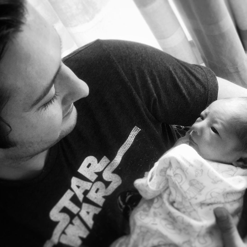 """The force is strong in my family. I have it...my sister has it....you have that power too. Meet the new member of the family my perfect little nephew, Jackson Kendrick Pennell, who was welcomed into the world on 13/05/15 weighing 6lb. This was our first conversation; """"Welcome to Earth my young padawan. I'll show you the way of the force, you will become a Jedi, I promise"""". For our ally is the Force, and a powerful ally it is. Life creates it, makes it grow. Its energy surrounds us and binds us. Luminous beings are we, not this crude matter. You must feel the Force around you; here, between you, me, the tree, the rock, everywhere"""". Proudbrother ProudUncle Padawan Starwars"""