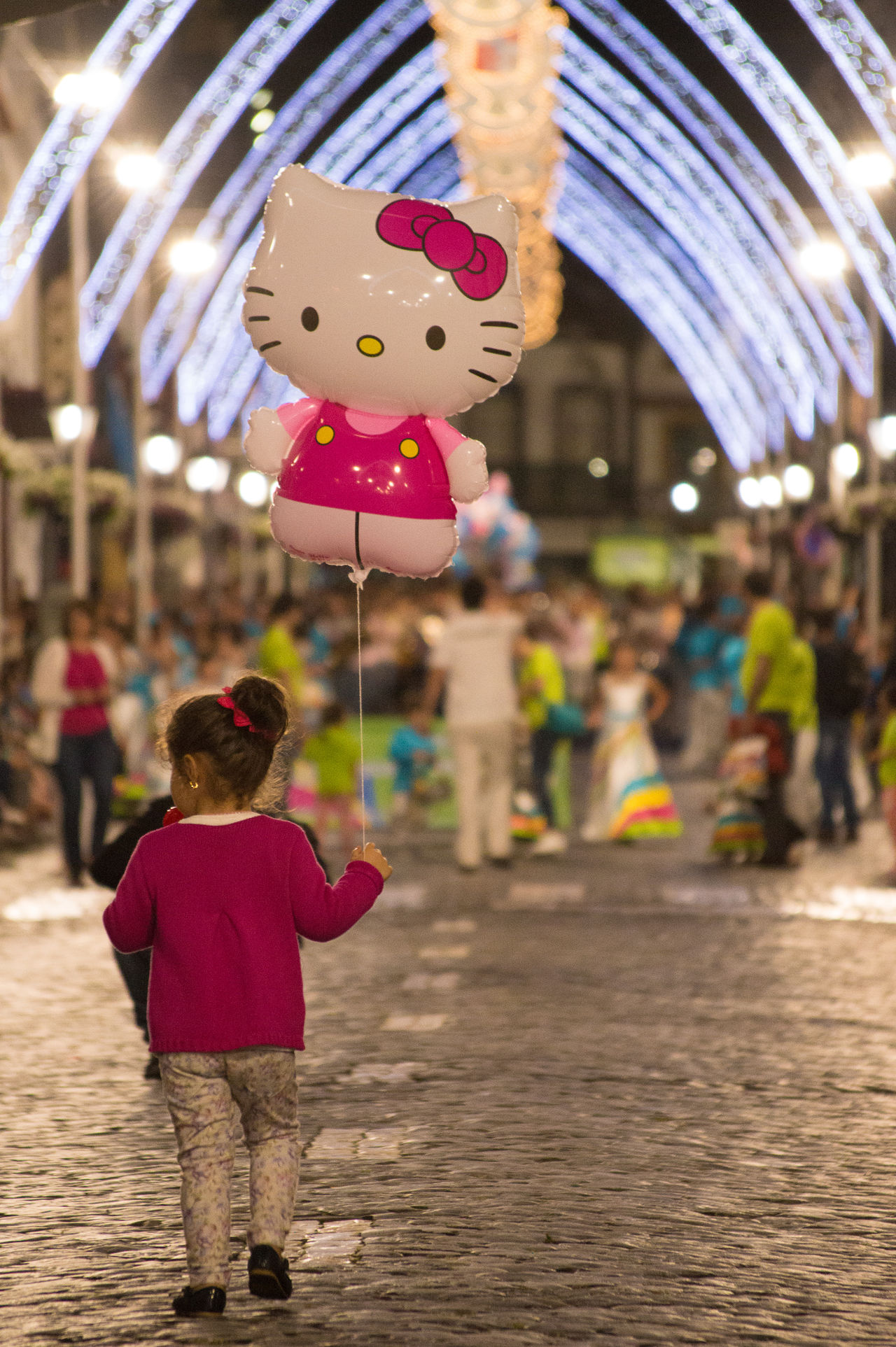 A child's dream Azores Child Childhood City Day Focus On Foreground Full Length Hello Kitty Outdoors Real People Sanjoaninas EyeEmNewHere