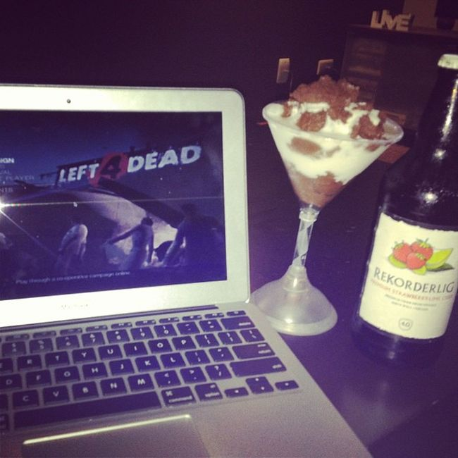 This is me for the night! Chocmousse Rekorderlig Left4dead