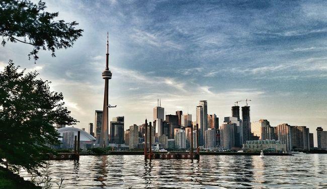 Toronto Islands Toronto Skyline Toronto Islands CN Tower Rogers Centre Lake Ontario Summer 6ix YYZ Reflection