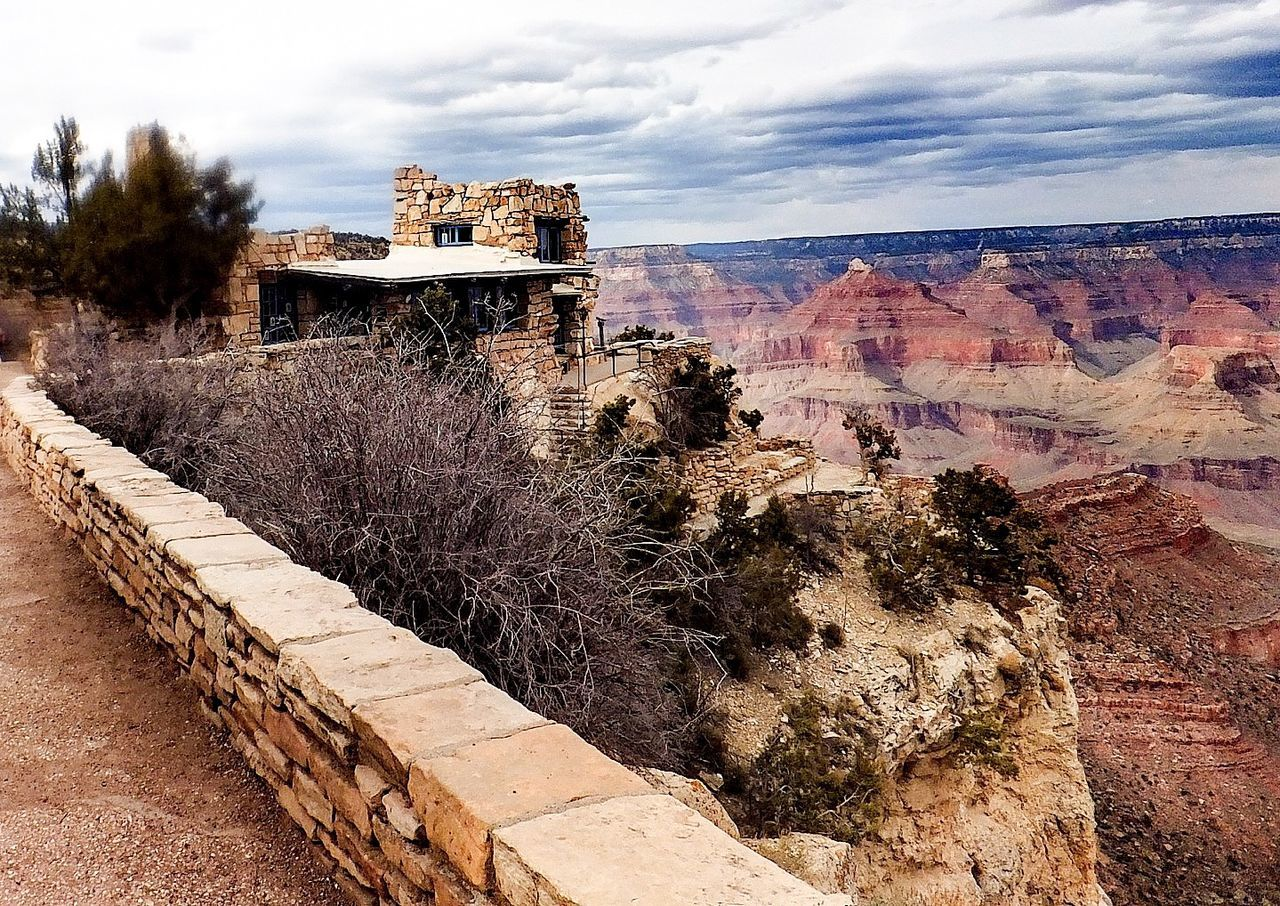 Old House, Canyon In Background