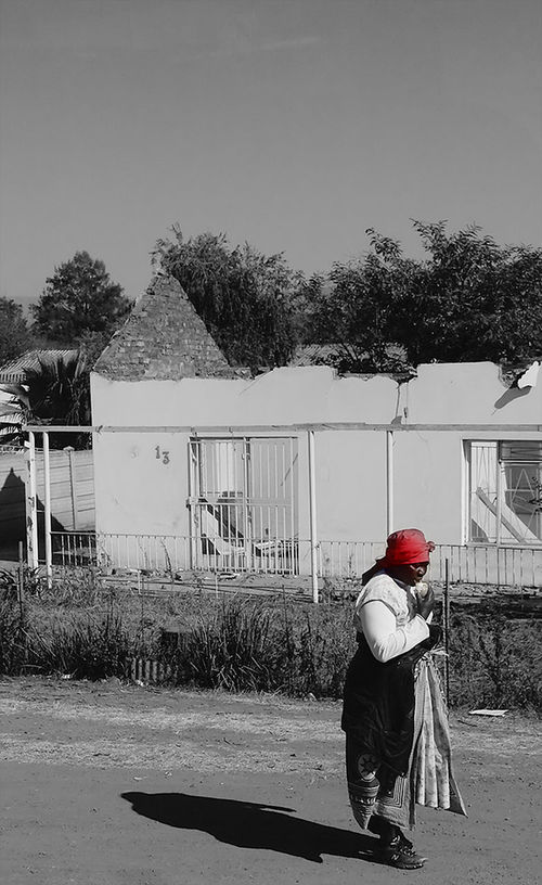 People Blackandwhite Westcape South Africa Township