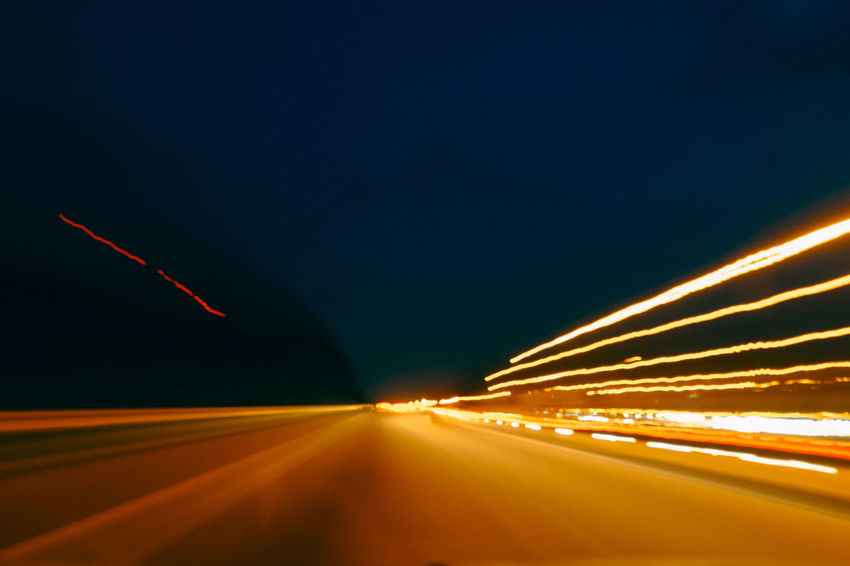Blurred Motion Fujifilm Illuminated Light Trail Light Trails Lights Long Exposure Mode Of Transport Motion Night Night Lights Nightphotography No People On The Move Outdoors Road Road Sky Speed Trail Transportation