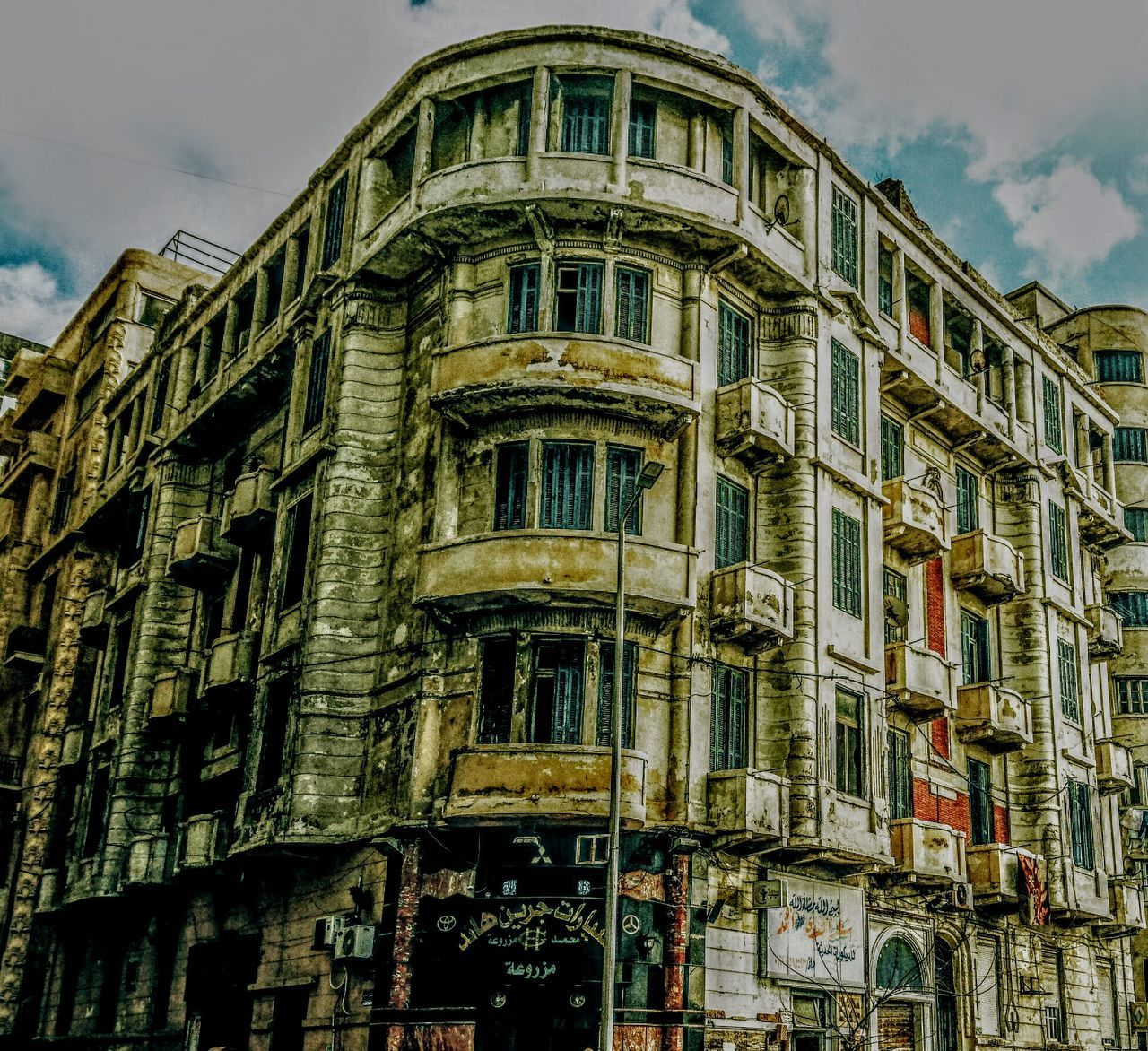 Architecture Building Exterior Window Low Angle View Built Structure No People Sky Outdoors History City Day Sketchy Classic Architecture Old Alexandria Residential Building Old Architecture Sketchyshots Architecture EyeEmNewHere Eyeemphotography Alexandria Egypt