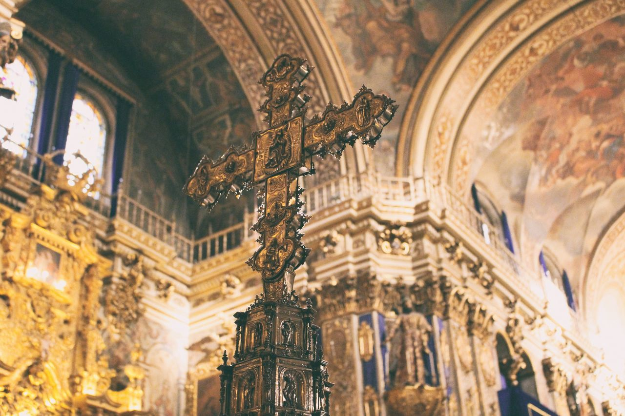 Cross Cross Religion Cathedral Golden Cross