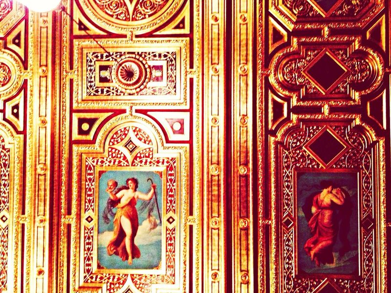 Golden Ceiling Architecture Painting
