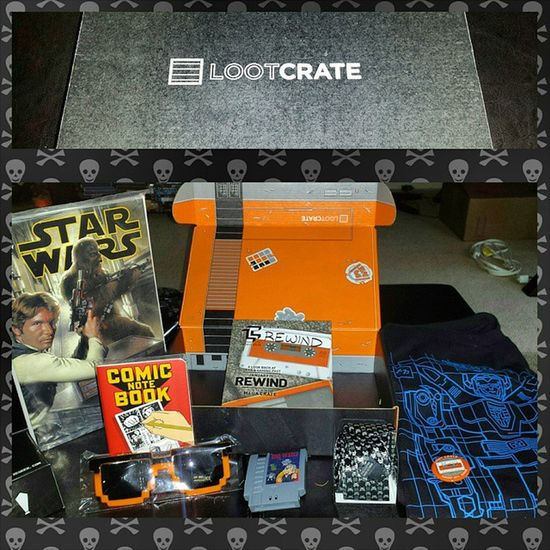 Thanks to Groupon I was finally able to try Lootcrate so many cool things the theme was Rewind 8bit Voltron Starwars Spaceinvaders Drwho