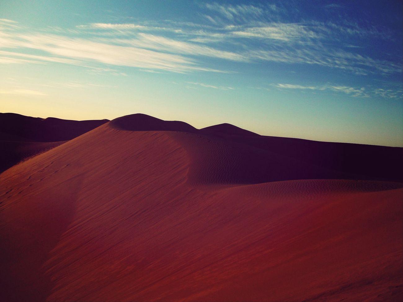 Dunes Levé Du Soleil Maroc je suis paumer la bas