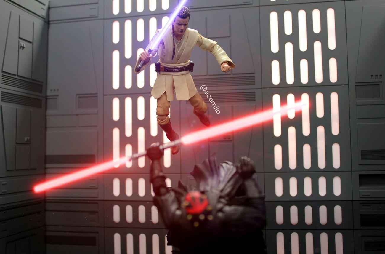 Obi-Wan and Darth Maul Realmofcollectors Toys Toyphotography Star Wars Obiwankenobi Darth Maul First Eyeem Photo