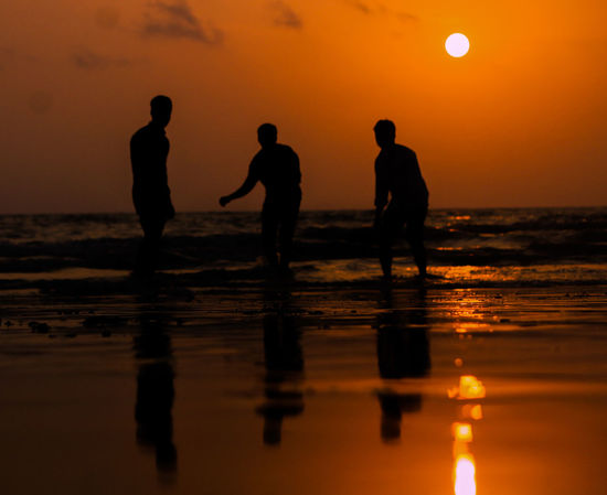 Sunset Beach People Adult Outdoors Nature Boys Sky Travel Destinations Friendship Full Length Men Sea Vacations Reflection Water Sun EyeEmNewHere The Week On EyeEm Mumbaiphotography Uniqueness Photography Full Frame Mumbai MumbaiDiaries Shades Of Winter Business Stories