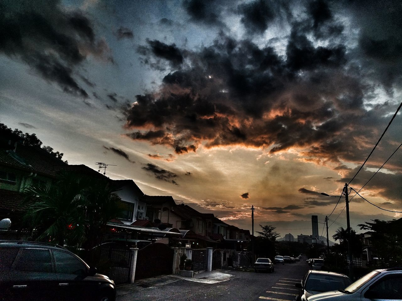 Awesome Skies Puchong Malaysia Cloud - Sky Beauty In Nature Dramatic Sky Sunset Road Architecture Outdoors No People Tranquility