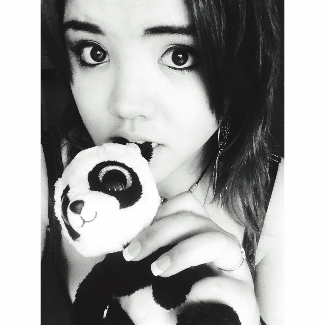 PANDA ♡♡ Blackandwhite Photography Selfie ✌ MeMyselfAndI ♡ Cute♡