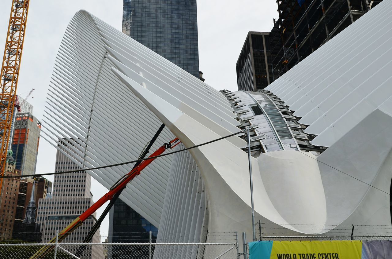 See a Calatrava being built: Priceless. Nyc Streets Amazing Architecture Modern Architecture EyeEm In NYC 2015