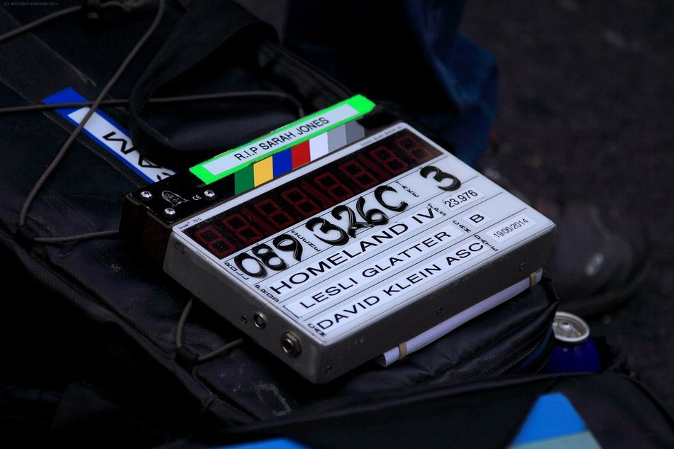 Clap Clapper Clapperboard Close-up Film Film Industry Filming Homeland MOVIE No People Production Technology Tv Tv Series