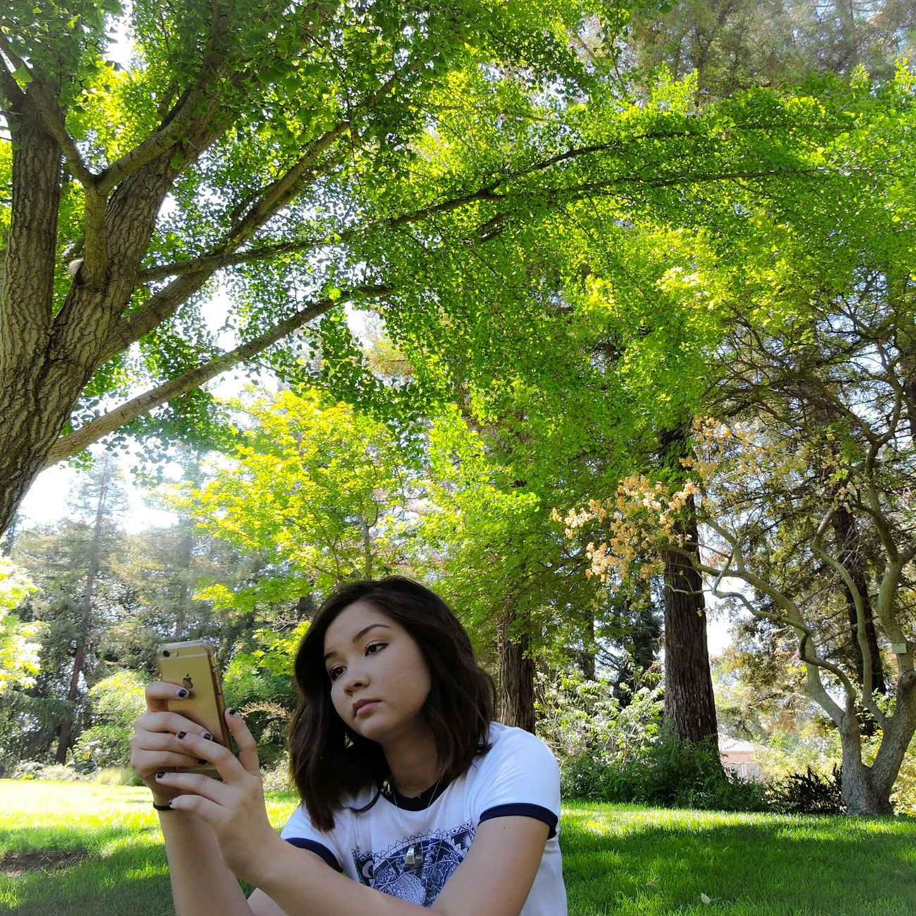 She thought the trees were beautiful but I thought she was more beautiful Trees Ucdavis Nature California Collage Hippietown Peaceful Savetheplanet Favorite