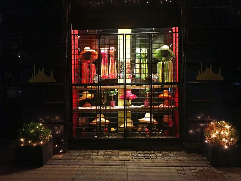 Street in night Shop Cph Copenhagen Kopenhagen Street Shopwindow Things Lights Night Symmetry Art