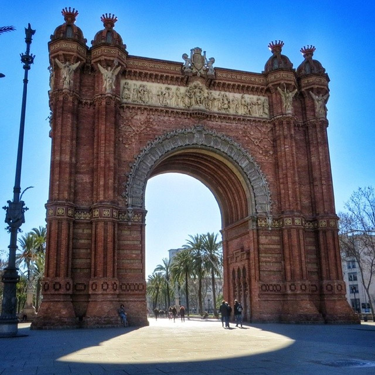 arch, architecture, history, clear sky, triumphal arch, day, outdoors, sky, no people