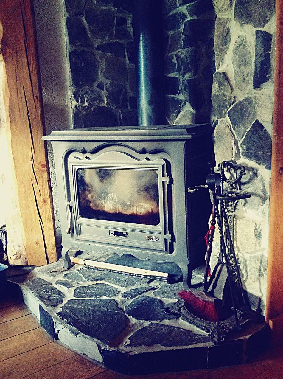 Winter fireplace travel around Europe