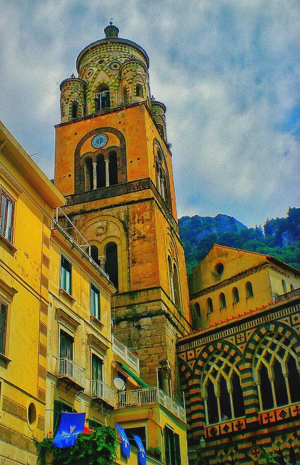 Church Cathredral Beautiful Architecture Cloud - Sky Sky Religion Building Exterior Built Structure Low Angle View Place Of Worship History Spirituality Day Outdoors No People Dome Travel Destinations Amalfi  Amalfi Coast Italy❤️