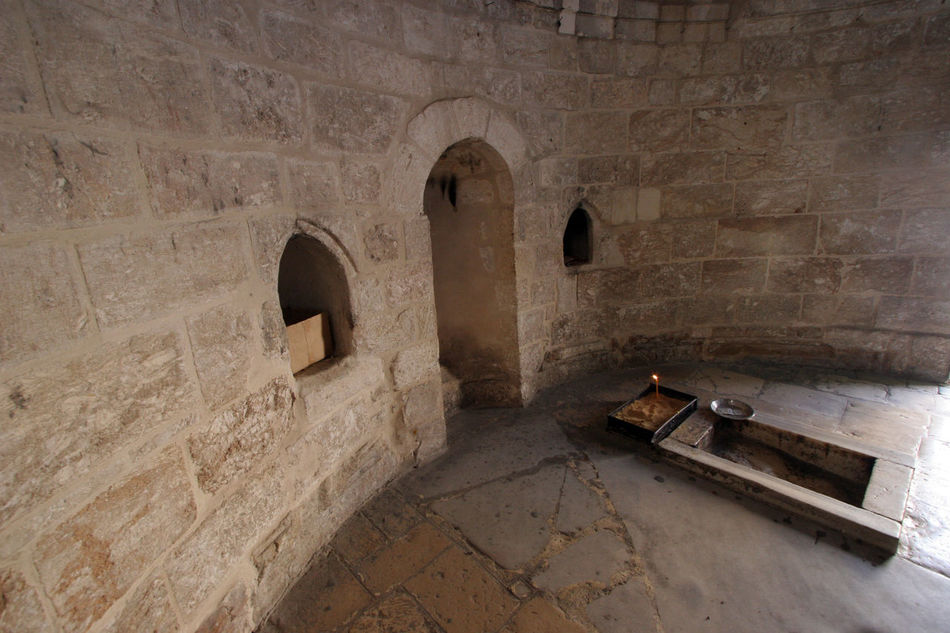 Chapel of the Ascension of Jesus Christ, Jerusalem, Israel Ancient Architecture Ascension Built Structure Chapel Christ Christianity Church City History Holy Holy City Holy Land Israel Jerusalem Jesus Jesus Christ Middle East Mount Of Olives Old Palestine Pilgrimage Religion Wall Worship