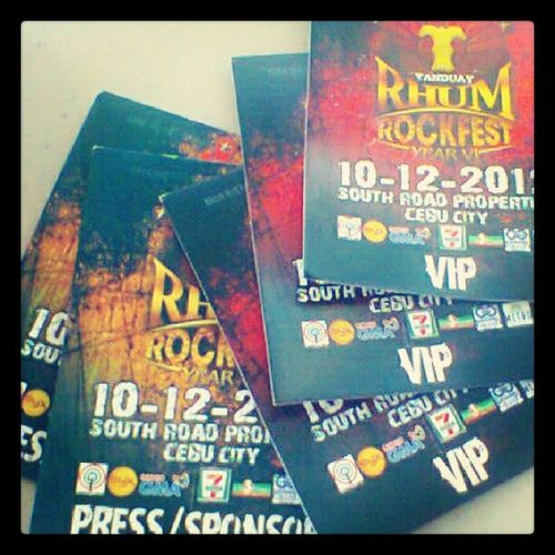 the only proof that we've been there :D Tanduay Rockfest Year6 Oct14 srp seaside instagram instagood instapic instamemories