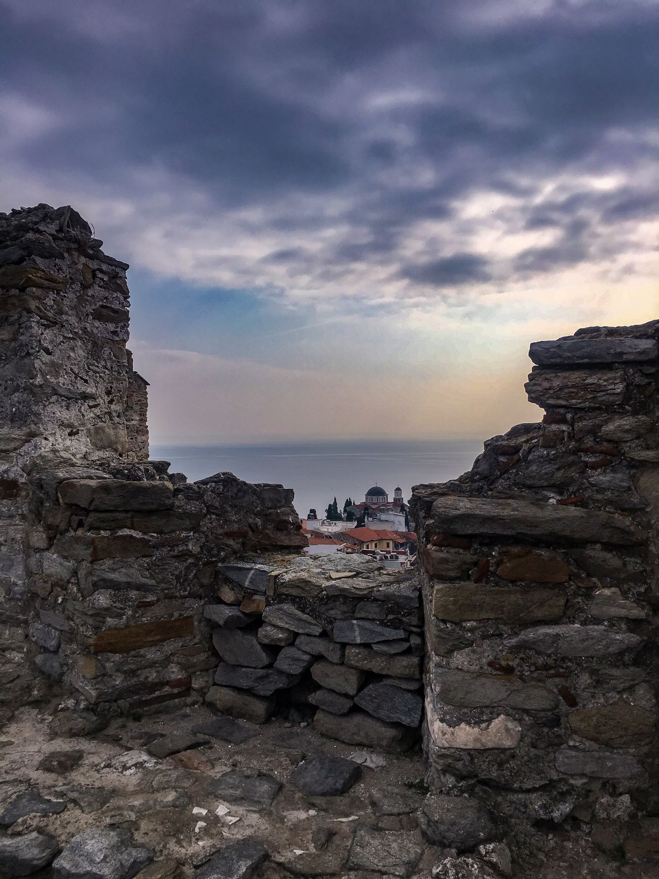 Greece Castle View  Castle Ruin Sky Architecture History Built Structure Horizon Over Water No People Travel Destinations Outdoors Building Exterior Ancient Civilization Beauty In Nature Travel Photography Ancient Fortress Scenics