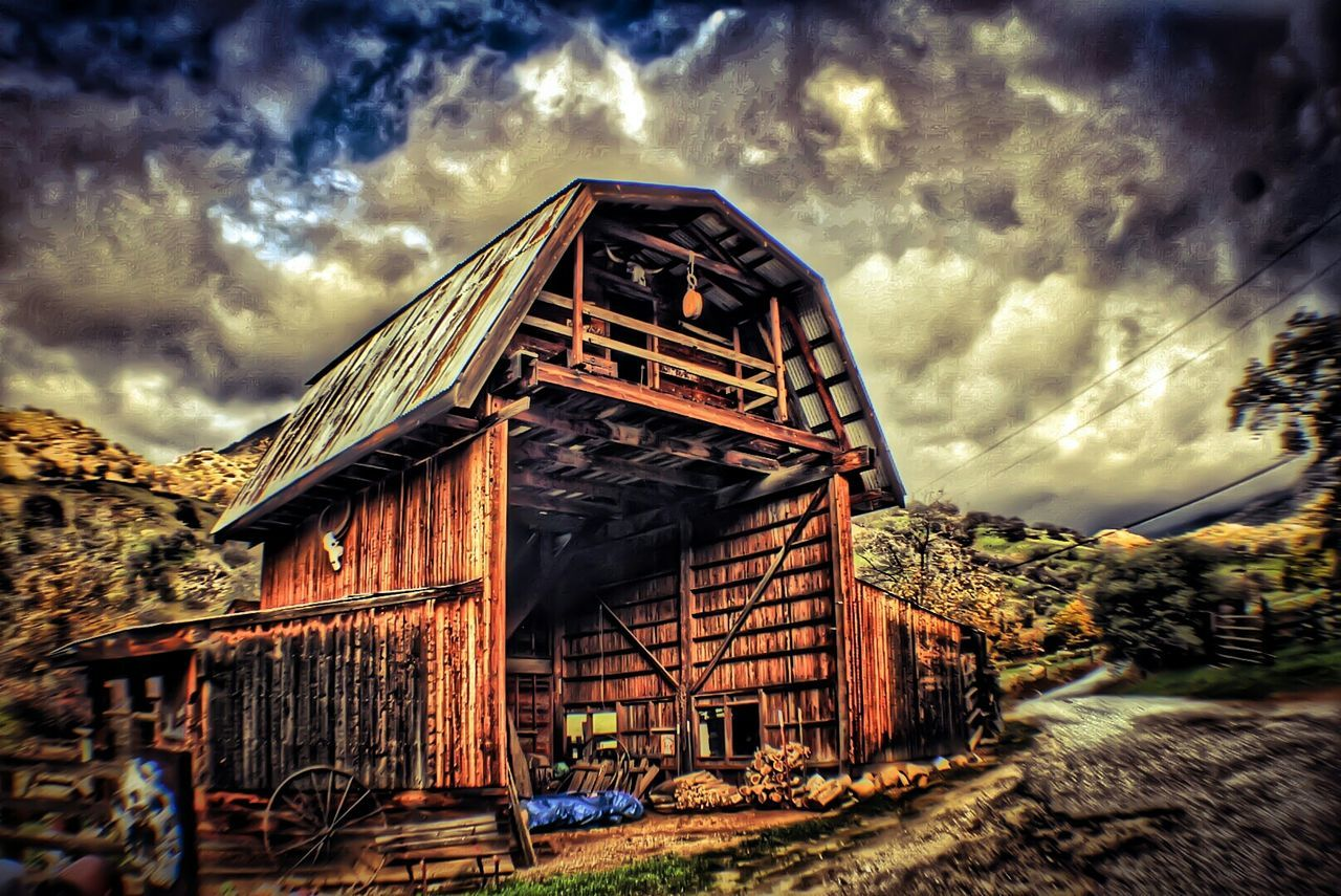 Mountain Nature Photography Architecture Barn Sky Peace HDR Photographicart Positivity