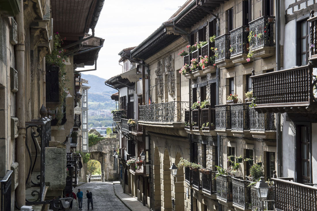Alley Architecture Balcony Bidasoa Building Exterior Built Structure City Day Guipuzcoa Hondarribia No People Outdoors Pais Vasco Residential Building Sky SPAIN