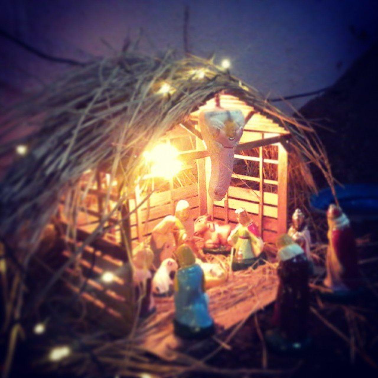 Nativity_Scene Illuminated Decoration Celebration Chrismas Art